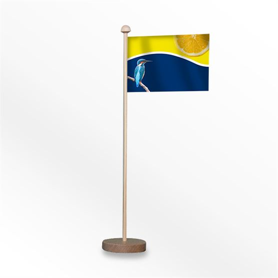 Table Flag With Wood Base