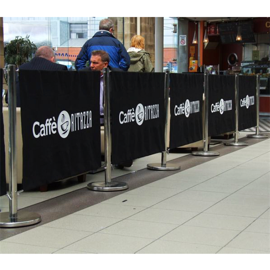 Custom Cafe Barrier