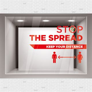 Keep your Distance Covid window graphic