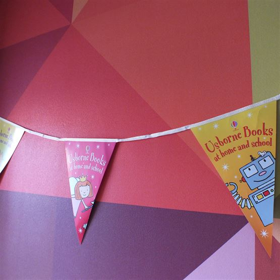 Triangle promotional bunting