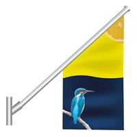 Angled Wall Mounted Flag Pole