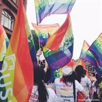 West Yorkshire Playhouse Pride March Handwavers