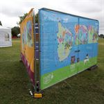 Lambeth Country Show Fabric Banner Maps