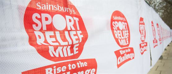 Sainsburys - Sports Relief - Heras Fencing Scrim - Polystretch