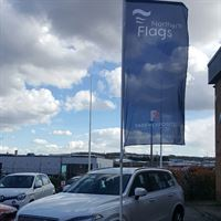 Forecourt Flag Pole with Rotating Arm