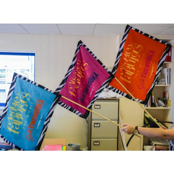 Fabric Handwaving Flags